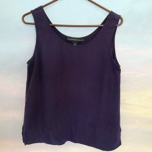 Silk Rich Purple or Plum Tank Top Josephine Chause